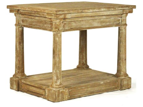 Zentique Weathered Tan 27'' Wide Rectangular End Table