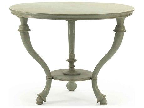 Zentique Distressed Sage 35'' Wide Round Foyer Table ZENLIS1525120B
