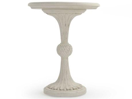 Zentique Distressed Cream 23'' Wide Round Pedestal Table ZENLISH1413112CREAM