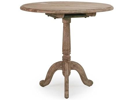 Zentique Limed Grey 31'' Wide Round Pedestal Table
