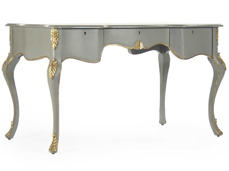 Zentique Grey / Green Gold Secretary Desk