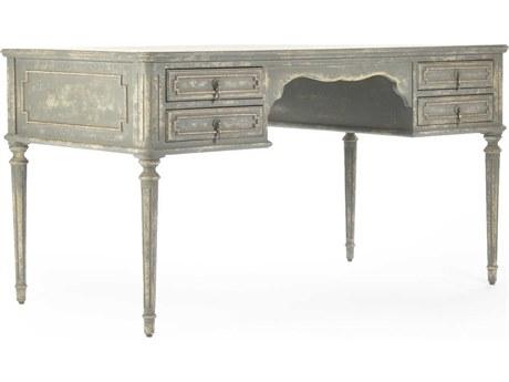 Zentique Distressed Grey / Cream Secretary Desk