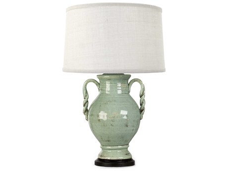 Zentique Distressed Blue 1-Light Table Lamp