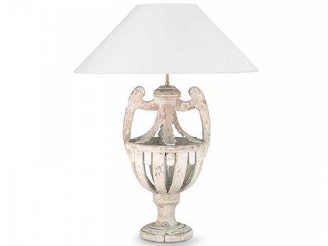 Zentique Cavendish White Wash 1-Light Table Lamp