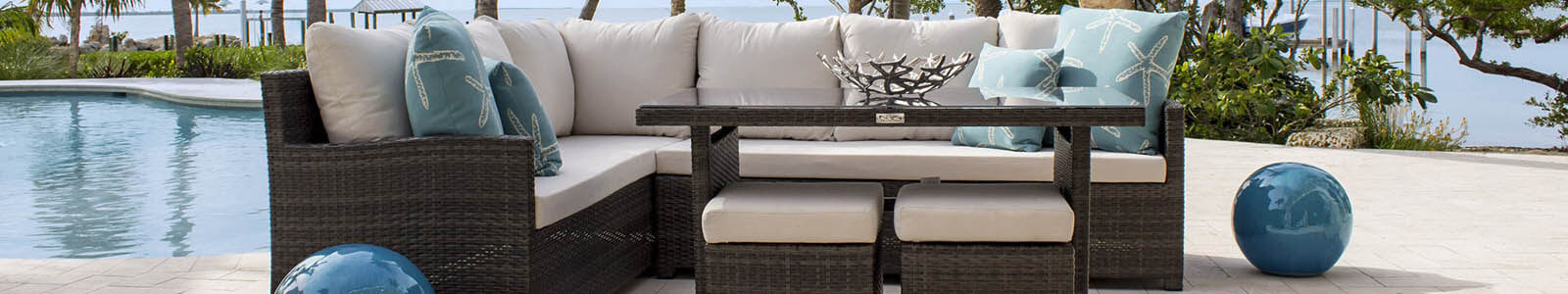 Hospitality Rattan Outdoor Banner