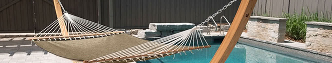 Vivere Outdoor Hammocks and Pillows Banner